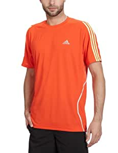 Adidas Response Men's Short-Sleeved T-Shirt 3 Stripes X18326 Red hight energy s12/ultra glow s12/light onix Size:Large