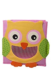 Smiling Owl Collapsible Toy Storage Box And Closet Organizer For Kids