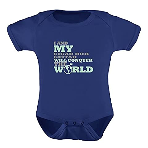 Idakoos I and my Cigar Box Guitar will conquer the world - Instruments - Baby Bodysuit