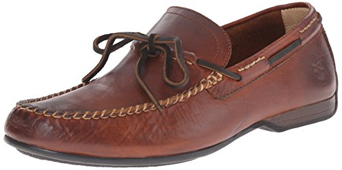 FRYE Men's Lewis Tie Slip-on Loafer, Cognac Soft Vintage Leather, 8.5 M US Burnished Cognac
