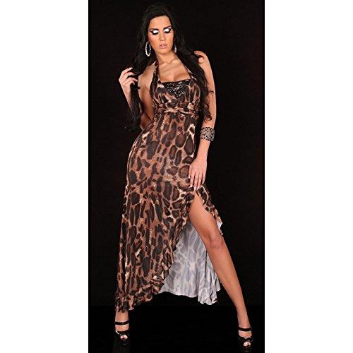 Mela Proibita Damen Column Kleid Leopardato