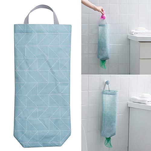 Soporte para bolsas de plástico, soporte de pared, dispensador de bolsas de alimentos, organizador de bolsas de basura con apertura superior e inferior de fácil acceso para el hogar, oficina, cocina. Tamaño libre Style1 Rectangle