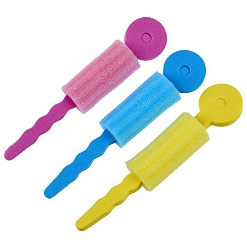 TOOGOO(R) Bigoudis d'eponge Rouleaux de cheveux d'eponge mousse Frisoir d'eponge colores doux 3 pieces paur un paquet