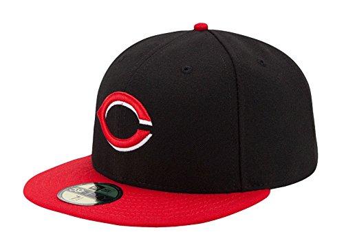NEW ERA CAPS AUTHENTIC PERFORMANCE CINCINNATI REDS TEAM FORCE ALTERNÉE 1, Black Red, 6 7/8