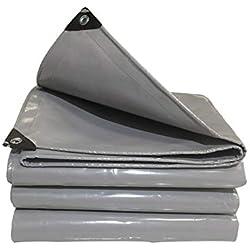LHL Bâche imperméable, bâche en polyéthylène Robuste Cover Couverture de Camping en Plein air avec Tapis de Sol, œillets, 600 g/m² (Color : 6X7M)