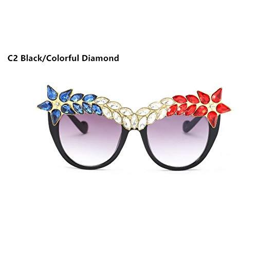 SKCLBOOS Sonnenbrillen Mode Diamant cat Eye Sonnenbrille Frauen 2017 Marke aussage schmuck Sonnenbrille Dekoration Vintage Shades gafas