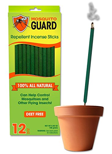 mosquito guard incenso repellente - 100% tutti i bastoni di incenso repellente naturale - bambù incenso di 12 infuso con citronella