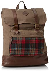 Original Penguin Men's Canvas Rucksack, Red, One Size,One Size