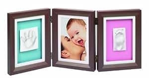 Baby Art - 34120072 - Cadre Photo - Baby Art Double Print Frame - Brown / Bleu-Rose