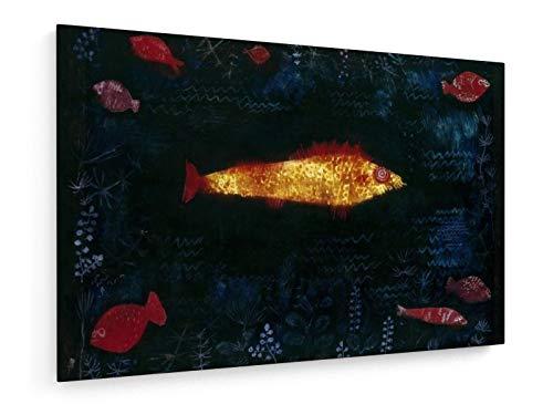 Paul Klee - Der Goldene Fisch - 1925-30x20 cm - Leinwandbild auf Keilrahmen - Wand-Bild - Kunst, Gemälde, Foto, Bild auf Leinwand - Alte Meister/Museum