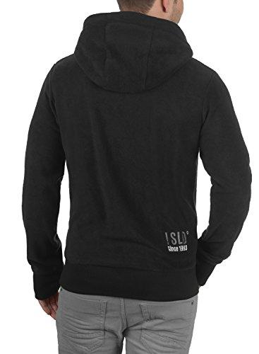 !Solid Loki Herren Fleecejacke Sweatjacke Jacke Mit Kapuze Und Daumenlöcher, Größe:S, Farbe:Black (9000) - 3