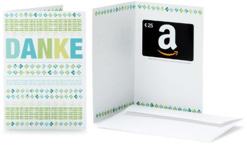 Amazon.de Geschenkkarte in Grußkarte - 25 EUR (Danke)