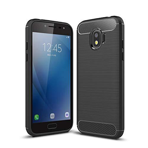 cookaR Samsung Galaxy J2 Pro (2018) hülle, Samsung Galaxy J2 Pro (2018) case Silikon Ultra Dünn Soft Silikon Schutzhülle für Samsung Galaxy J2 Pro (2018) case Cover(Schwarz)