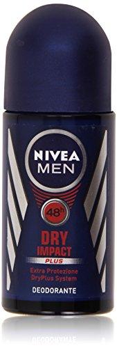 Nivea Men Dry Impact Plus, Deodorante Extra Protezione, 50 ml, Confezione da 4