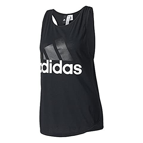 adidas Damen Essentials Linear Loose Tanktop, Black/White, M