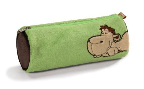Nici 52053-700 - Stiftemäppchen Kamel aus Plüsch, grün 700 Etui