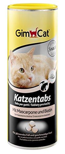 GimCat Katzentabs | köstlicher Snack kombiniert mit funktionalen Inhaltsstoffen | ohne Geschmacksverstärker | Mascarpone und Biotin | 1 Dose (1 x 425 g)