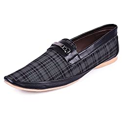Andrew Scott Mens Black Canvas/Synthetic Loafer