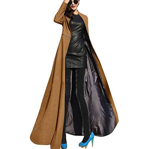 Oberbekleidung Damen Slim Fit Windbreaker Lange Jacke Groß Größe Winterjacke Frauen Trenchcoat Langer Wollmantel Btruely