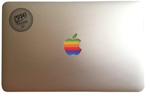 Design Art Apple Old Retro Rainbow-Logo Aufkleber Aufkleber für 11