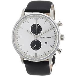 Emporio Armani Herren-Armbanduhr XL Chronograph Quarz Leder AR0385
