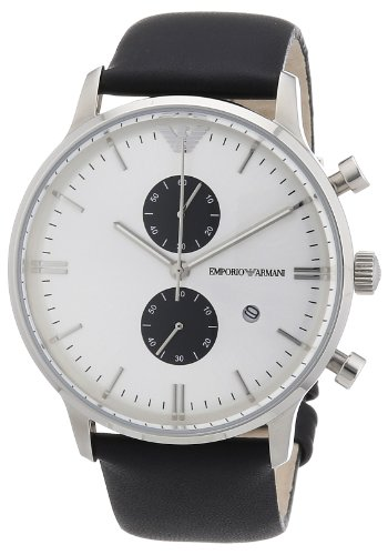 Emporio Armani Men's Quartz Watch AR0385 AR0385 with Leather Strap