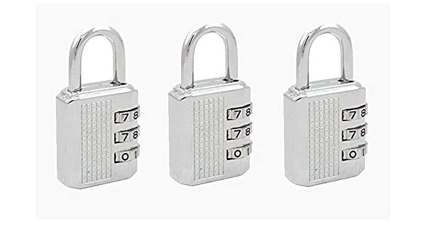 Cute 3-Digit Combination Travel Luggage Suitcase Padlock Lock Security FO
