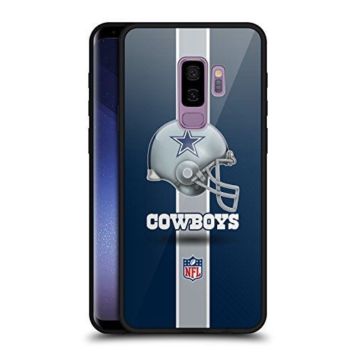 Head Case Designs Offizielle NFL Helm Dallas Cowboys Logo Schwarz Rückseiten Hülle aus Hybrid Glass für Samsung Galaxy S9+ / S9 Plus
