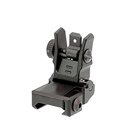 UTG Low Profile Flip-Up Rear Sight with Dual Aiming Aperture Mnt-955 Visier, Schwarz, one size