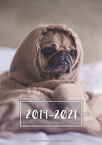 2019 - 2021: Wochenplaner ab KW27 | Juli 2019 bis Juni 2021 Kalender | 1 Woche auf 1 Seite | 24 Monate Planer | DIN A5 Format Terminkalender | Mops -