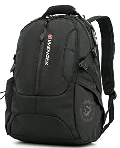 Wenger Backpack by SwissGear with Padded Sleeve for Laptops (SA1537 Black) Color: Black
