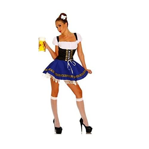 41%2BVsy aSdL. SS500  - PriMI Novelty Women's Germany Oktoberfest Bavarian County Beer Waitress Serving Maid Bustier (L)