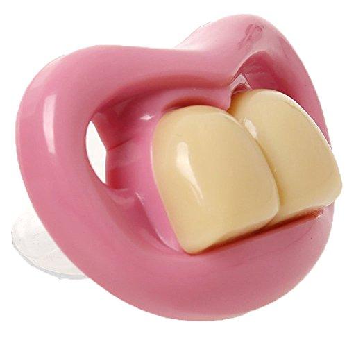 Mi Ji Chupete divertido silicona niños dos dientes