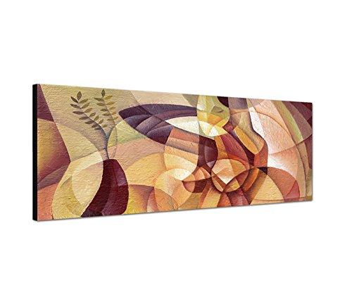 Sinus Art Wandbild 150x50cm Gemälde Malerei Kubismus Portrait Frau