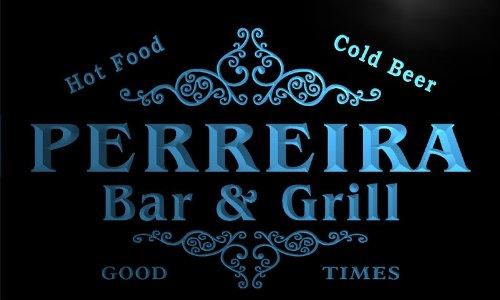 u34681-b PERREIRA Family Name Bar & Grill Home Brew Beer Neon Sign Barlicht Neonlicht Lichtwerbung