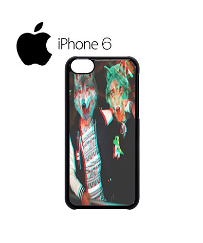 3D Wolves Wolf Head Party Men Swag Mobile Phone Case Back Cover for iPhone 6 Black Noir