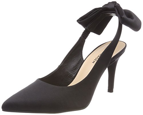 Shoe Biz Damen Heloise Slingback Pumps, Schwarz (Satin Black), 37 EU -