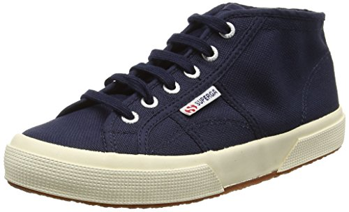 Superga2754JCOT CLASSIC - Scarpe da Ginnastica Alte Unisex per bambini Blu (Blue (933 Navy))