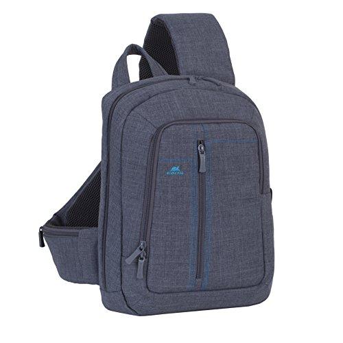 """RivaCase 7529 Laptop Sling backpack 13.3"""" - Zaino monospalla per Laptop fino a 13.3"""", Grigio"""