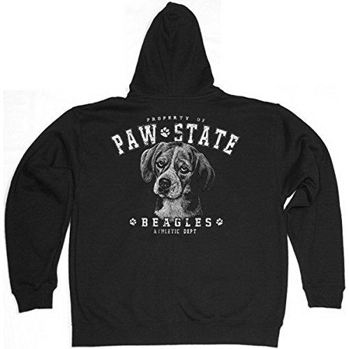 TITAGU Sweatshirtjacke mit Kapuze Hunde-Aufdruck: Beagle - Zip Hoodie - schönes Tier Motiv -