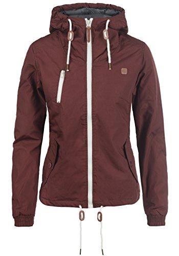 DESIRES Tilda Damen Übergangsjacke Jacke gefüttert mit Kapuze, Größe:M, Farbe:Wine Red (0985) Kapuzen Jacke Mantel