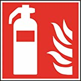 Kunststoff PVC Schild Feuerlöscher DIN EN ISO 7010-200x200x1.5mm langnachleuchtend