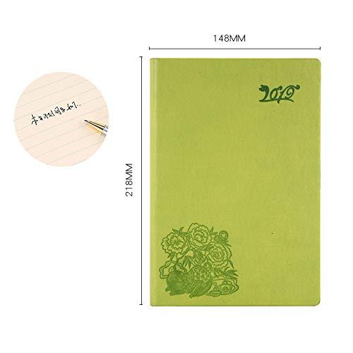 Notebook - Business Hardcover Gebunden, A5 Notizblock Grün A5 (Top-spirale Gebunden Notebook)