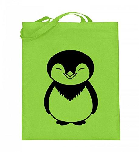Borsa In Juta Di Alta Qualità (con Manici Lunghi) - Borsa In Juta Pinguin Verde Lime