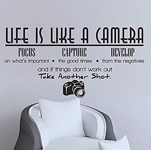 wandaufkleber das leben ist wie eine kamera focus greifen entwickeln kunst wandaufkleber pvc abnehmbare diy wohnkultur wasserdicht wohnzimmer decals113x59cm - Wie Das Ist Eine Kamera Leben