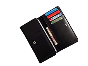 ATV PU Leather Black Designer Flip Pouch Case Cover For SAMSUNG GALAXY J