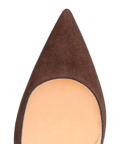 uBeauty - Scarpe da Donna - Scarpe col Tacco - Classiche Scarpe col Tacco - Scarpe Colorate Marrone A