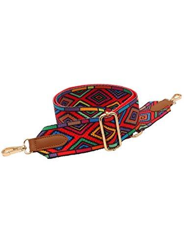 2229807c2286e BENAVA Bunter Taschengurt mit Karabiner – Stilvoller Damen Taschenriemen  5cm Breit - Zubehör für Schultertaschen