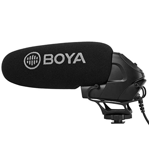 Boya BY-BM3031 Richtmikrofon Kameramikrofon Kondensatormikrofon für DSLR-Kameras, Videokameras, Tonaufnahmegeräte