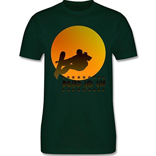 Après Ski - Board and Sun - Herren Premium T-Shirt Dunkelgrün